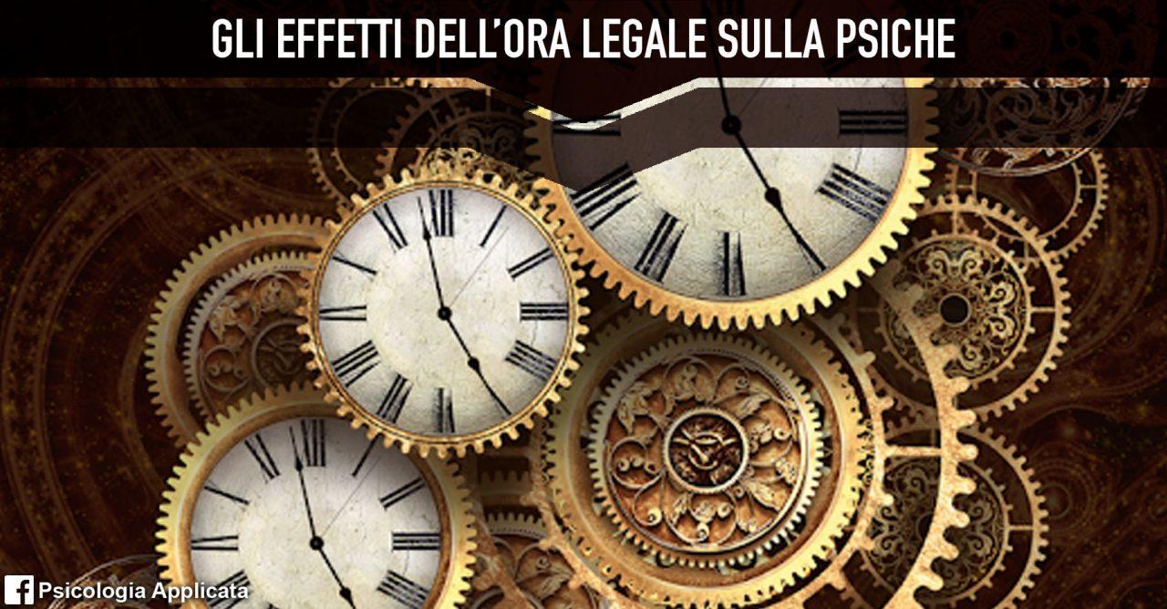 gli effetti dell'ora legale sulla psiche