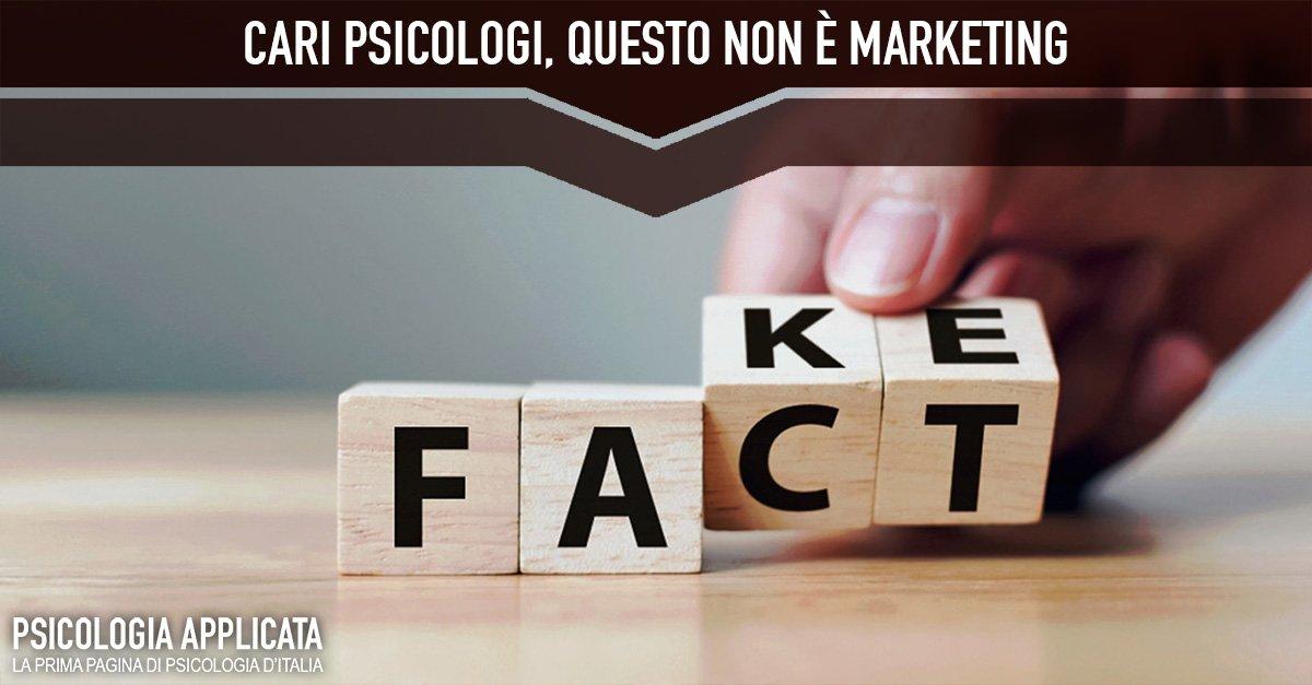 Cari psicologi questo non è marketing